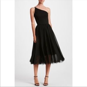 Dress the Population Eliza One Shoulder Midi Dress
